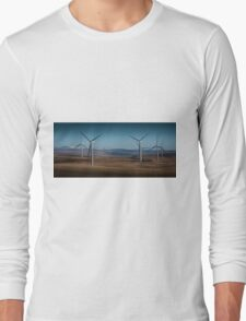 Wind turbines on Betws mountain Long Sleeve T-Shirt