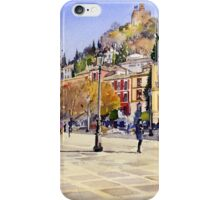 La Plaza Nueva, Granada, Spain iPhone Case/Skin