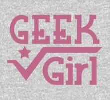 Geek Girl with pi Kids Tee