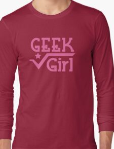 Geek Girl with pi Long Sleeve T-Shirt