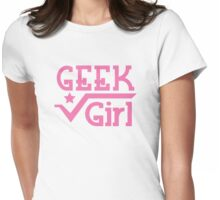 Geek Girl with pi Womens Fitted T-Shirt