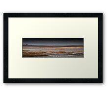 Whitford Burrows and lighthouse Framed Print