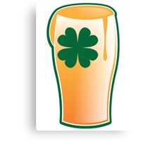 An IRISH shamrock beer great for St Patricks day Canvas Print