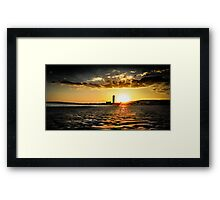 Swansea bay sunset Framed Print