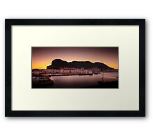 Dawn at Gibraltar Framed Print