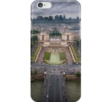 Storm approaching over Paris iPhone Case/Skin