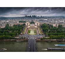 Storm approaching over Paris Photographic Print