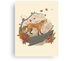 fox and rabbit Canvas Print