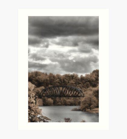 Bridge in time Art Print
