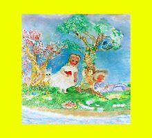 My Valentine Whimsical Designer Art Yellow by innocentorigina