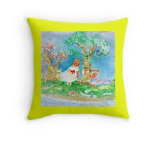 My Valentine Whimsical Designer Art Yellow Throw Pillow