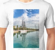 Tall Ships and Palm Trees - Impressions of Barcelona Unisex T-Shirt