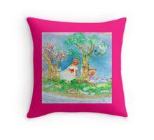 My Valentine Pink Whimsical Designer Art Throw Pillow