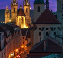 Evening Prague Sticker