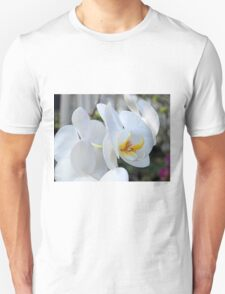 Cluster of White Orchids Unisex T-Shirt