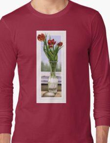 """Three Tulips"" Long Sleeve T-Shirt"