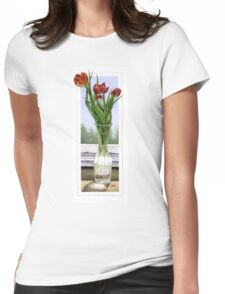 """Three Tulips"" Womens Fitted T-Shirt"