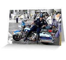 To Protect & Serve Greeting Card