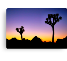 Almost Night Mojave Desert Canvas Print