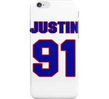 National football player Justin Harrell jersey 91 iPhone Case/Skin