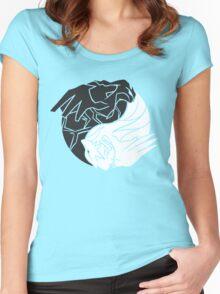 Reshiram & Zekrom Women's Fitted Scoop T-Shirt