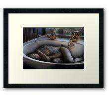 The sink bath Framed Print