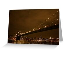 Brooklyn Brigde Greeting Card