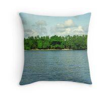 Solomon Islands Scenery Throw Pillow