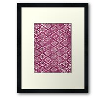 Square Purple Design - Craft Design Framed Print