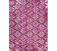 Square Purple Design - Craft Design Photographic Print