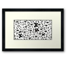 Brush collage Framed Print