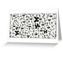 Brush collage Greeting Card
