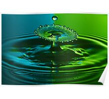 Green and Blue Splash Poster