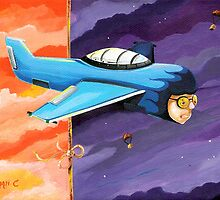Little Blue Plane by Bryan Collins