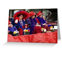 The Red Hat Society Greeting Card