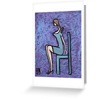 Seated girl Greeting Card
