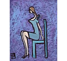 Seated girl Photographic Print