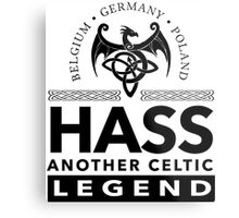 Cool 'Hass Another Celtic Legend' T-shirts, Hoodies, Accessories and Gifts Metal Print