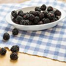 Fresh Blackberries in Window Light by dbvirago