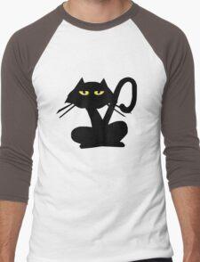 Black Kitty Men's Baseball ¾ T-Shirt