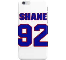 National football player Shane Dronett jersey 92 iPhone Case/Skin