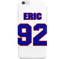 National football player Eric England jersey 92 iPhone Case/Skin