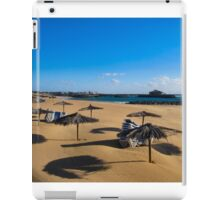 EMPTY BEACH AND STACKED SUNBEDS. iPad Case/Skin