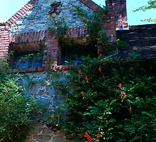 detail of Bourn Cottage edifice... by Lenny La Rue, IPA