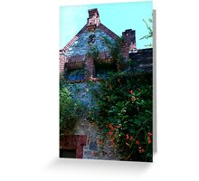 detail of Bourn Cottage edifice... Greeting Card