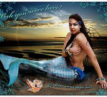Mermaid postcard by carrollcreative