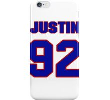 National football player Justin Trattou jersey 92 iPhone Case/Skin