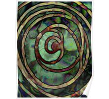 Abstract Ripples Poster