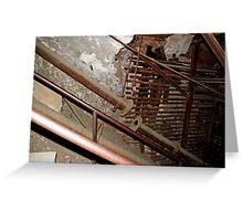 rusty ironwork holding mine open Greeting Card