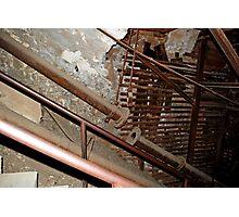 rusty ironwork holding mine open Photographic Print